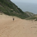 Couldn't resist running down this dune at Robberg Nature Reserve!