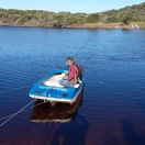 The do-it-yourself ferry at Goukamma Nature Reserve.  What a fun way to start!