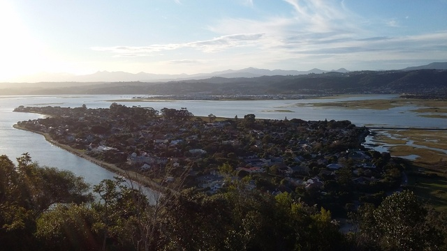 Aerial view of Leisure Isle towards Knysna