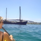 "The ""pirate ship"" that was moored on the lagoon for a few weeks!"