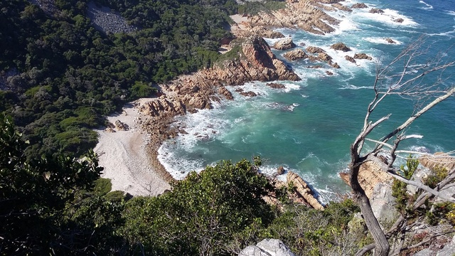 It was a very steep climb from that little beach below... Kranshoek Coastal Trail