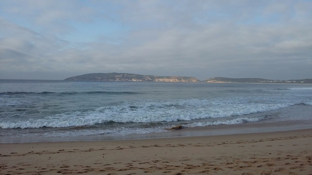 Robberg Beach looking towards Robberg Peninsula