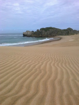 Unspoilt beach at Robberg Nature Reserve
