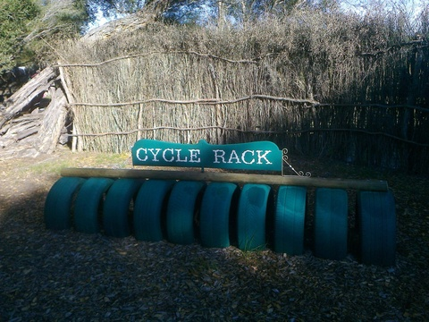 Bicycle rack at Wild Oats Market - fantastic idea!